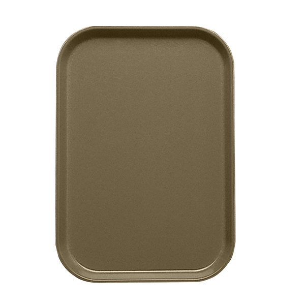 """Cambro 1015513 10 1/8"""" x 15"""" Bay Leaf Brown Customizable Insert for 1520 Fiberglass Camtray - 24/Case"""