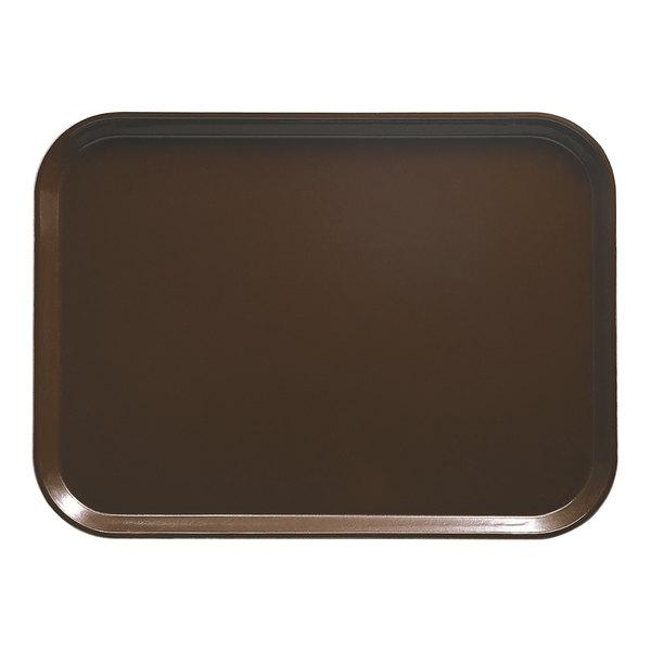 "Cambro 3853116 14 3/4"" x 20 7/8"" (37,5 x 53 cm) Rectangular Metric Brazil Brown Customizable Fiberglass Camtray - 12/Case"