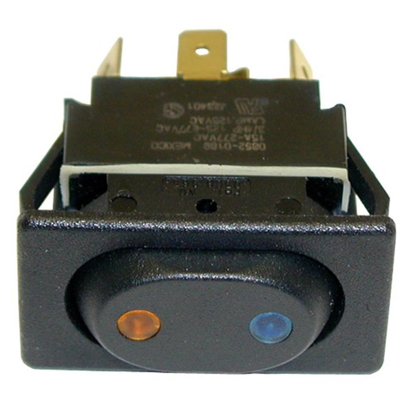 All Points 42-1378 On/Off/On Sealed Rocker Switch - 15A, 125/277V Main Image 1