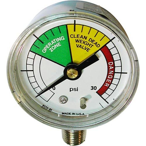 "All Points 62-1087 Pressure Gauge; 0 - 30 PSI; 1/4"" NPT Bottom Mount"