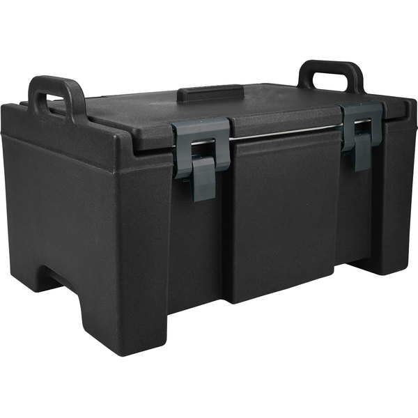 """Cambro UPC100110 Camcarrier® Black Top Loading 8"""" Deep Insulated Food Pan Carrier Main Image 1"""