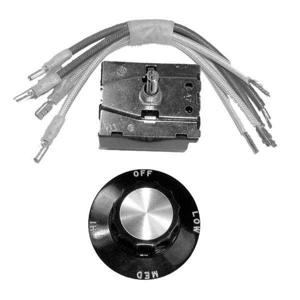 All Points 42-1295 3-Way Rotary Switch Kit with Dial - 20A/480V
