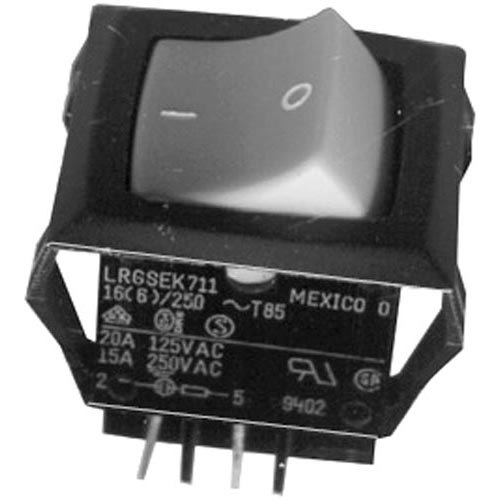 All Points 42-1740 On/Off Lighed Rocker Switch - 20A/125V, 15A/250V
