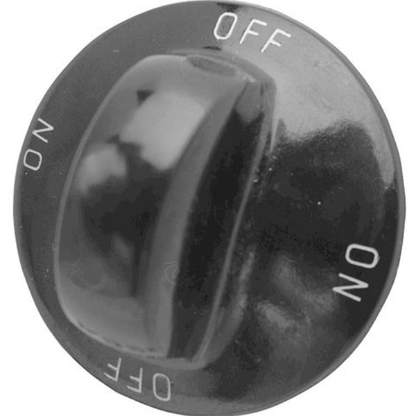"All Points 22-1196 1 5/16"" Fryer / Hot Dog Steamer / Popcorn Popper Rotary Switch Knob (Off, On)"