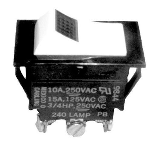 Southbend 3003830 Equivalent On/Off/On Lighted Rocker Switch - 15A/125V, 10A/250V Main Image 1