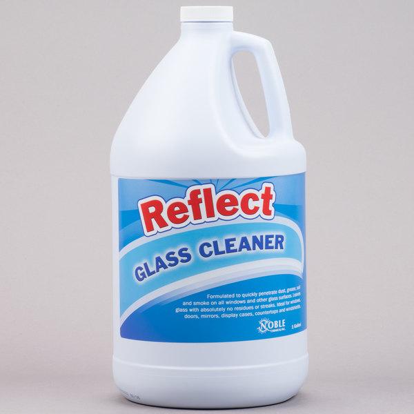 Noble Chemical Reflect Glass Cleaner 1 Gallon Bottles - Ecolab® 25798 Alternative - 4/Case