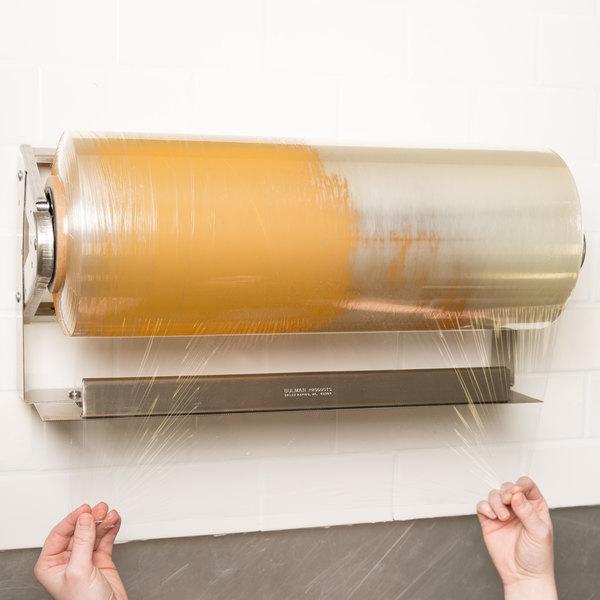 "Bulman A575-18 18"" Stainless Steel Countertop / Wall Mount Film Dispenser"