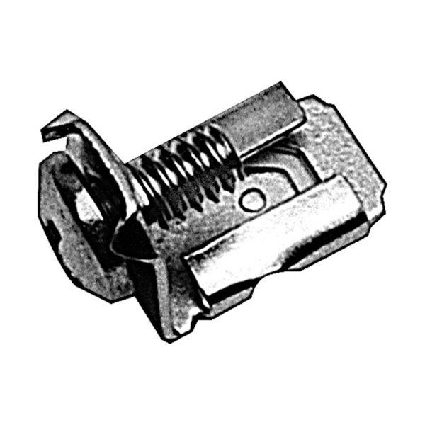 "All Points 85-1049 Solderless Terminal Connector; 1/4"" Female Tab; #8 Screw - 10/Pack"