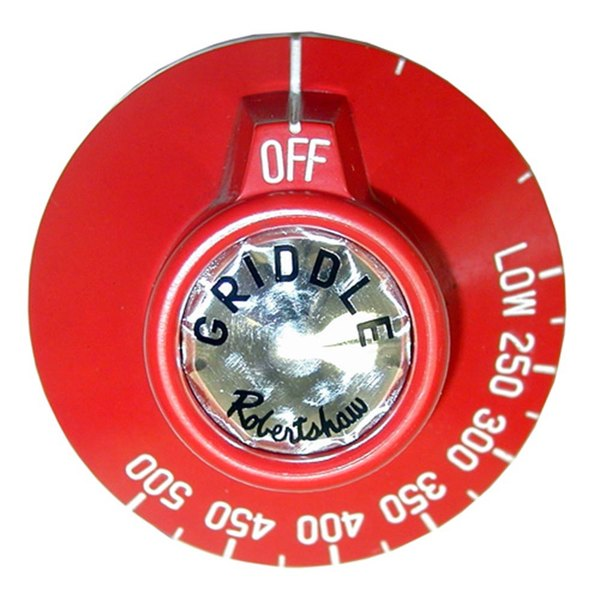 """All Points 22-1335 2 3/8"""" Red Griddle / Oven BJ Thermostat Dial (Off, Low, 250-500)"""