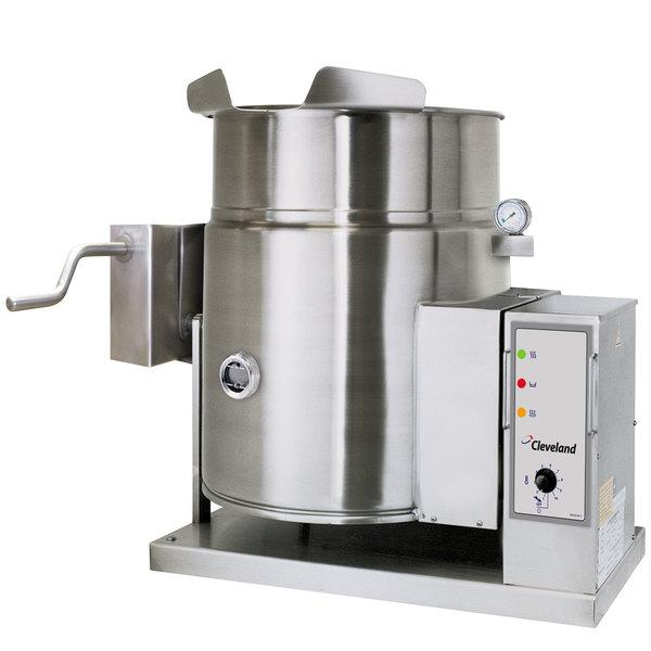 Cleveland KGT-12-TGB Liquid Propane 12 Gallon Tilting 2/3 Steam Jacketed Tabletop Kettle - 53,000 BTU Main Image 1