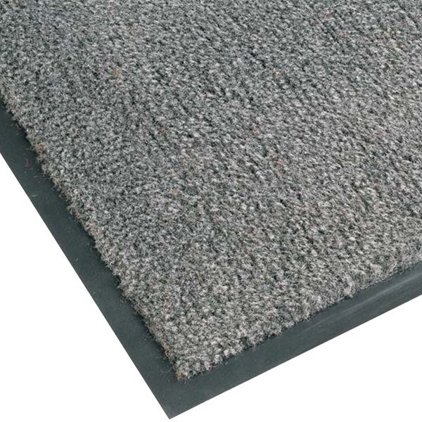 "Notrax T37 Atlantic Olefin 434-326 3' x 10' Gunmetal Carpet Entrance Floor Mat - 3/8"" Thick"