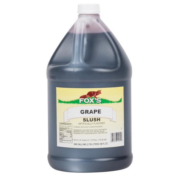 Fox's 1 Gallon Grape Slush Syrup  - 4/Case