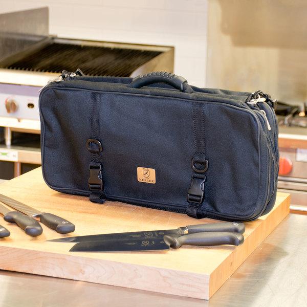 Mercer Culinary M30429M 29 Pocket Triple-Zip Knife Case
