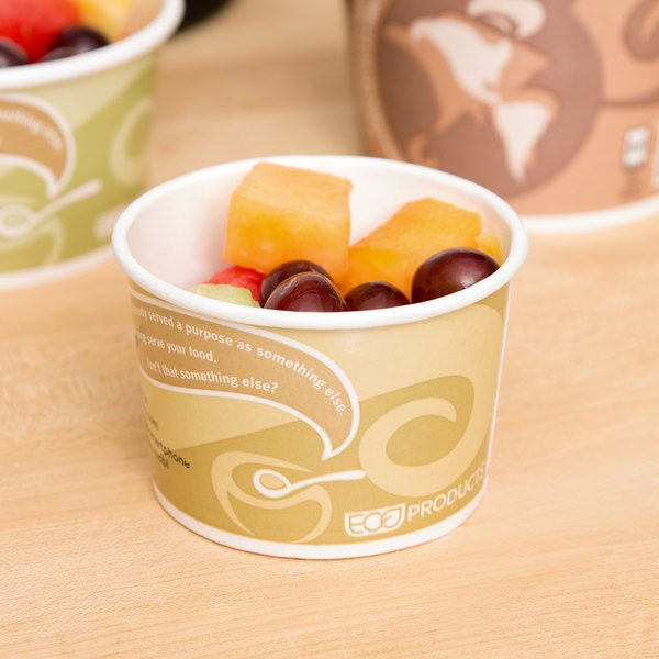 Eco Products EP-BRSC8-EW Evolution World 8 oz. Soup / Hot & Cold Food Cup - 1000/Case Main Image 2