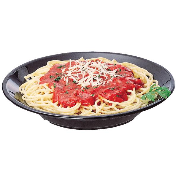 Cambro 90SPCW110 Camwear 13.5 oz. Black Polycarbonate Round Soup / Pasta Bowl - 48/Case