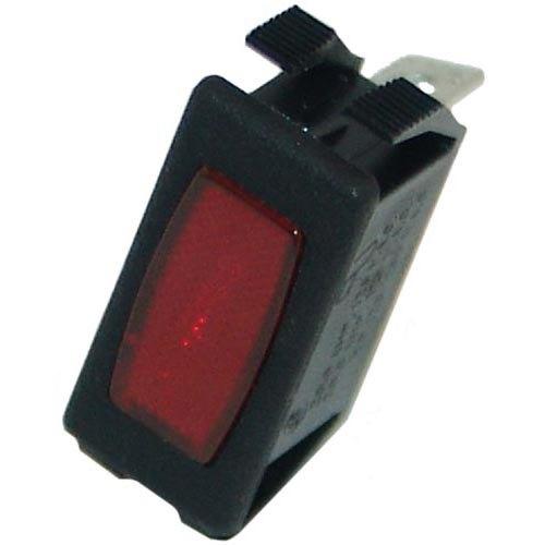 """All Points 38-1457 Red 1 1/8"""" x 1/2"""" Rectangular Signal Light - 250V"""