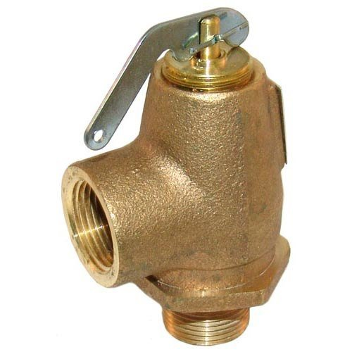 """All Points 56-1349 50 PSI Brass Steam Safety Relief Valve - 3/4"""" NPT, 805 lb./Hour Main Image 1"""