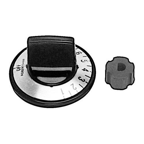 "Nemco 47309 Equivalent 2"" Warmer Thermostat Dial Kit (Off, 1-10)"