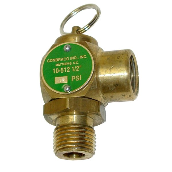 "All Points 56-1238 12 PSI Steam Safety Relief Valve - 1/2"" NPT, 135 lb./Hour"
