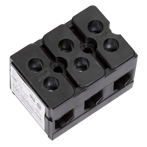 Hatco R02-15-003-00 Equivalent 3 Pole 85 Amp Terminal Block - 600V