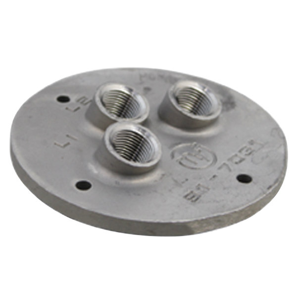 """Market Forge 91-6286 Equivalent Probe Plate; 4 3/16""""; 3/8"""" FPT Probe Holes Main Image 1"""