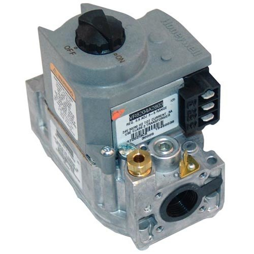"Blodgett 30006 Equivalent Type VR8204A Gas Valve; Natural Gas; 1/2"" Gas In / Out; 3/16"" Pilot Out"