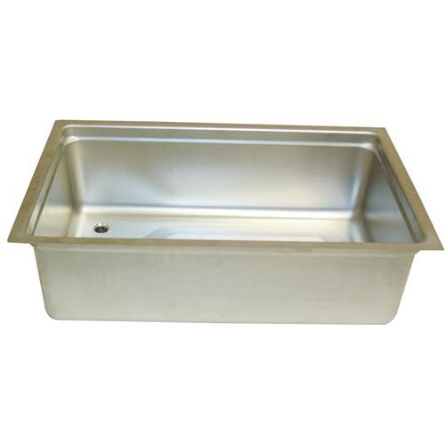 "All Points 32-1744 12"" x 20"" Stainless Steel Steam Table Pan Assembly with Drain Main Image 1"