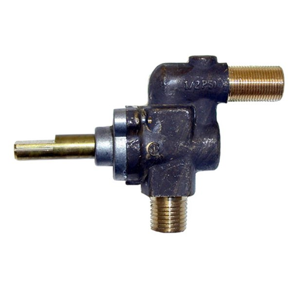 """Vulcan 210121 Equivalent Burner Gas Valve - 1/4"""" Gas In x 1/2""""-27 Gas Out"""
