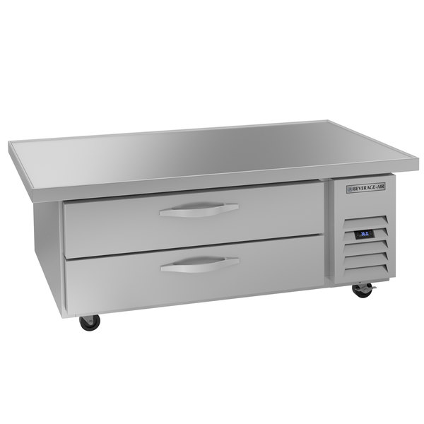 """Beverage-Air WTRCS52-1-60 60"""" Two Drawer Refrigerated Chef Base Main Image 1"""