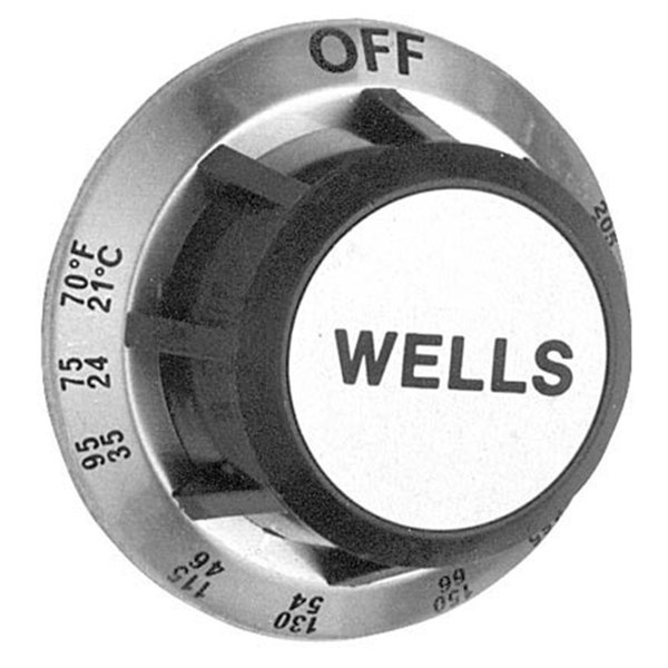 """All Points 22-1253 2 3/8"""" Warmer Dial (Off, 70-205)"""