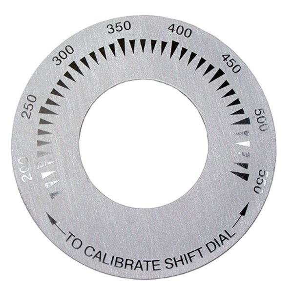 """Keating 58038 Equivalent 3"""" Griddle Dial Plate (200-550)"""