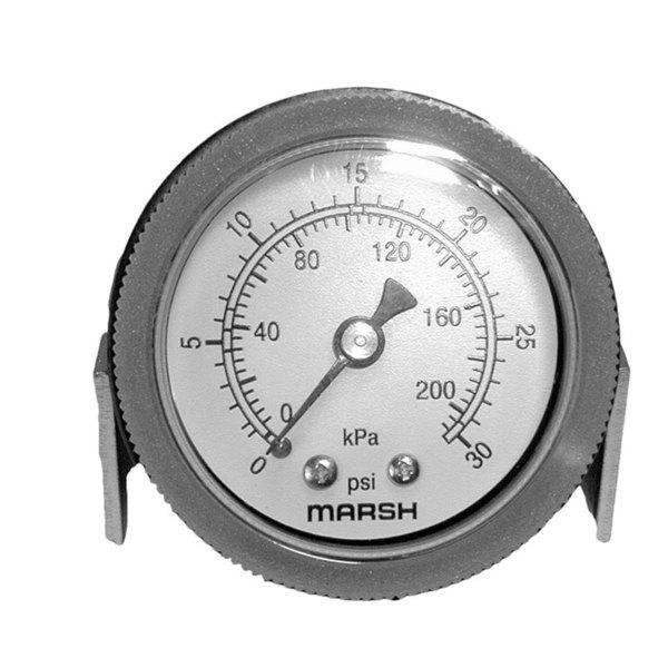 """Cleveland 076028-2 Equivalent Pressure Gauge; 0 - 30 PSI; 1/8"""" MPT Back Mount Main Image 1"""
