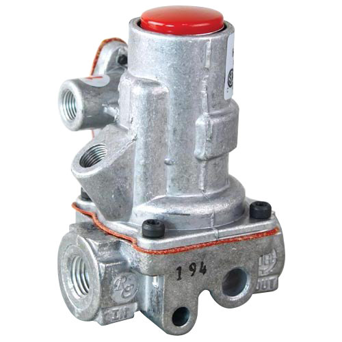 "Vulcan 498344-A Equivalent Automatic Gas Pilot Safety Valve; 1/4"" FPT Gas In / Out; 1/8"" FPT Pilot In / Out"