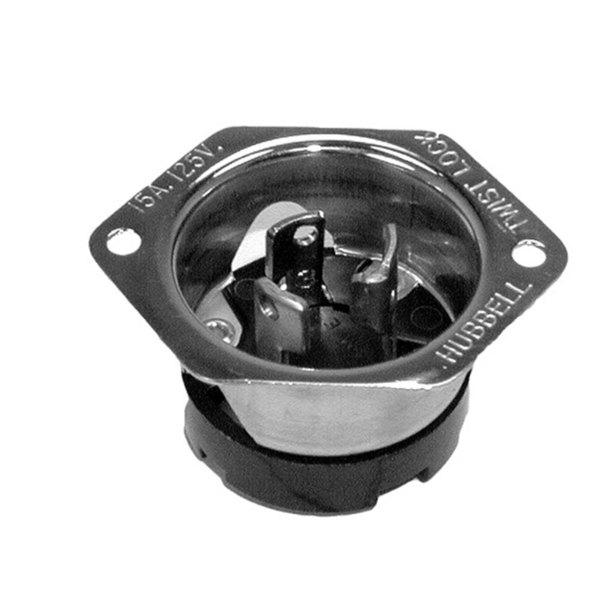 Cres Cor 0713-011 Equivalent Flanged Twist Lock Male Plug - 15A/125V Main Image 1