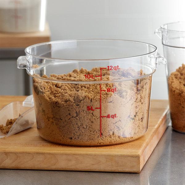 Camwear Polycarbonate Round Food Storage container 12 Quart