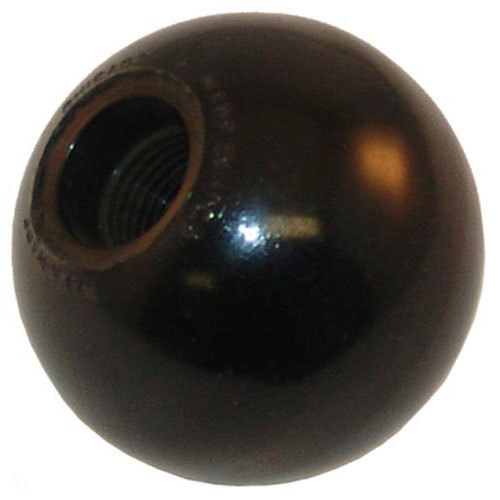 """All Points 22-1563 1 7/8"""" Black Round Broiler Ball Knob"""