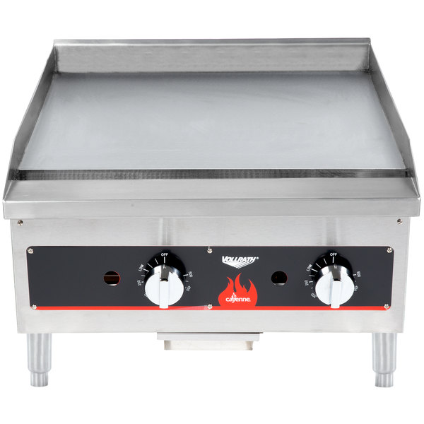 "Vollrath 40722 Cayenne 24"" Flat Top Gas Countertop Griddle - Thermostatic Control"