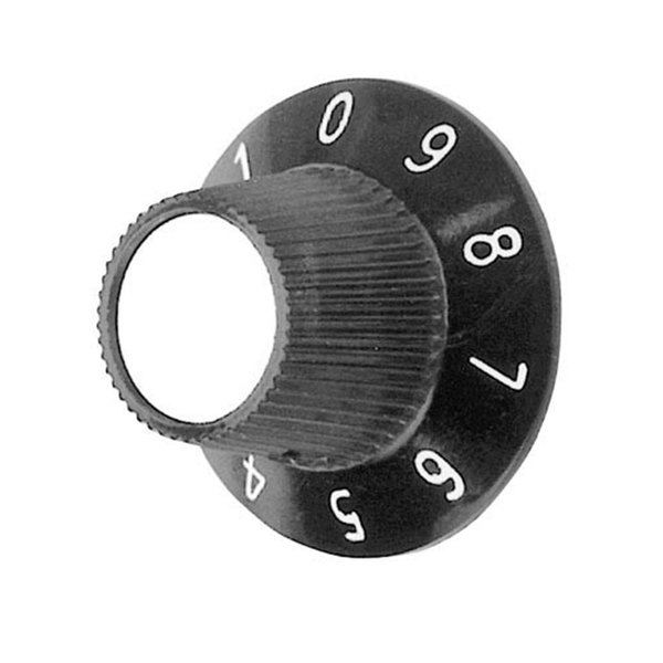 """All Points 22-1221 1 1/8"""" Toaster Speed Control Knob (0-9)"""