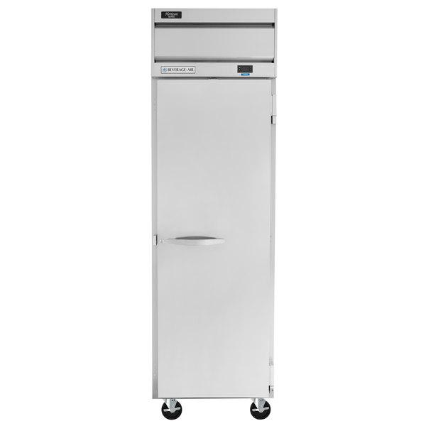 "Beverage-Air HFS1HC-1S Horizon Series 26"" Solid Door Reach-In Freezer with Stainless Steel Interior Main Image 1"