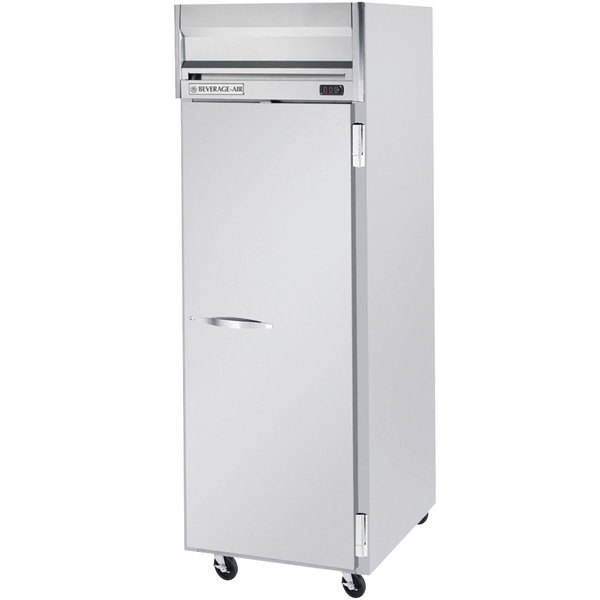 """Beverage Air HFS1-1S 26"""" Horizon Series One Section Solid Door Reach-In Freezer with Stainless Steel Interior - 24 cu. ft."""