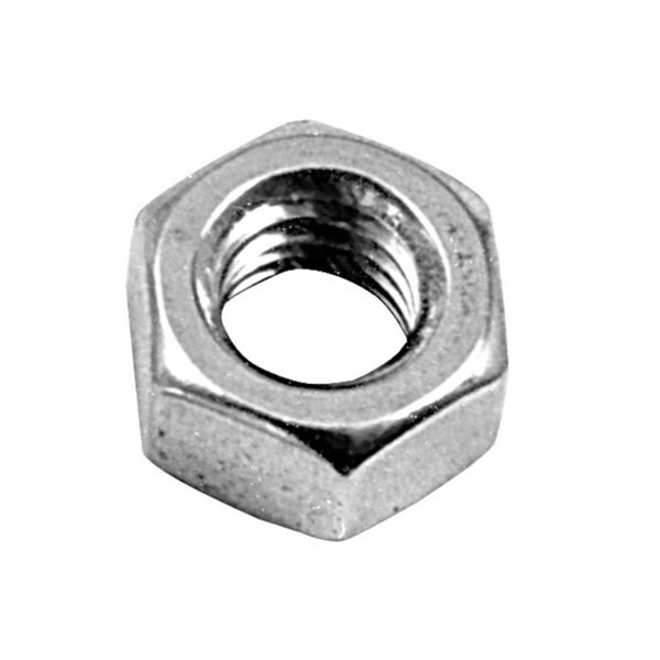 """All Points 26-1069 Stainless Steel 1/4""""-20 Machine Hex Nut - 100/Box Main Image 1"""