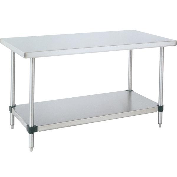 "14 Gauge Metro WT367FC 36"" x 72"" HD Super Stainless Steel Work Table with Galvanized Undershelf"
