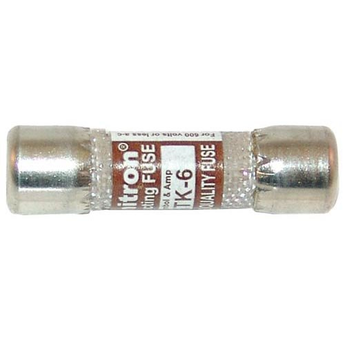 """All Points 38-1437 13/32"""" x 1 1/2"""" 6A Fast Acting KTK-6 Glass Fuse - 600V"""