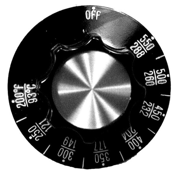 """All Points 22-1303 2 1/4"""" Oven Thermostat Dial (Off, 200-550)"""