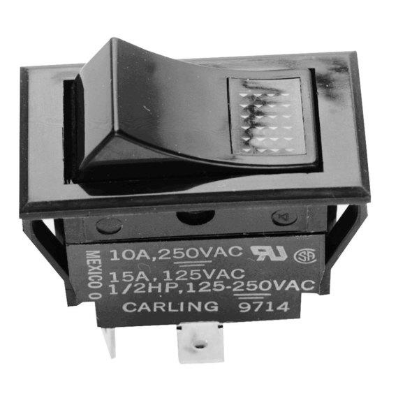 Frymaster 2025 Equivalent On/Off Lighted Rocker Switch - 15A/125V, 10A/250V Main Image 1