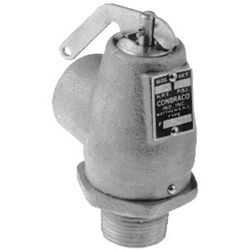 """All Points 56-1318 15 PSI Chrome Steam Safety Relief Valve - 3/4"""" NPT, 446 lb./Hour"""