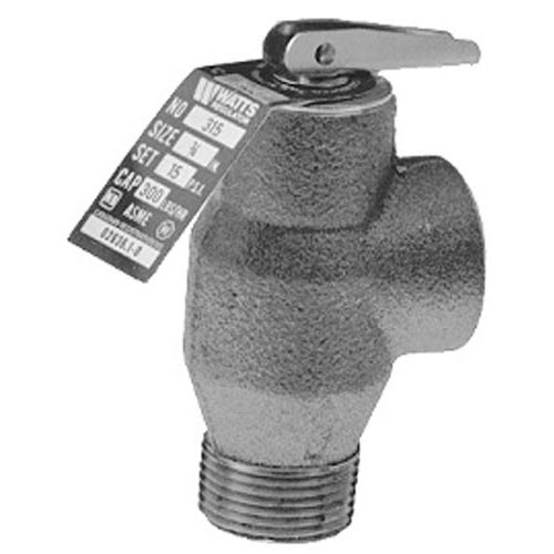 "Market Forge S10-4741 Equivalent 8 PSI Bronze Steam Safety Relief Valve - 3/4"" NPT, 295 lb./Hour"