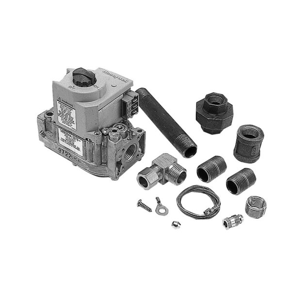 """Blodgett 20354 Equivalent Type VR8204A Gas Valve Kit; Natural Gas; 1/2"""" Gas In / Out; 3/16"""" Pilot Out; With Hardware"""