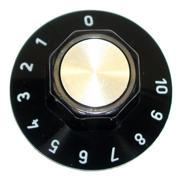 "Vollrath 23423-1 Equivalent 2"" Control Knob (0-10) Main Image 1"