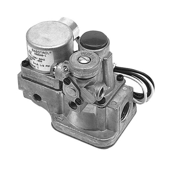 "Groen 006761 Equivalent Gas Safety Valve; Natural Gas / Liquid Propane; 1/2"" Gas In; 3/4"" Gas Out; 1/4"" Pilot Out Main Image 1"